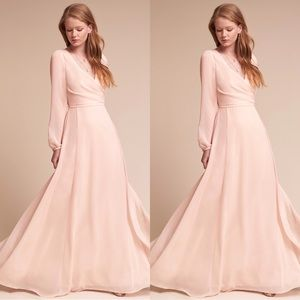 Anthropologie x BHLDN Watters Nova Dress Ice Pink